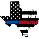 2e82bb341f3 Texas tattered thin blue-red line flag honoring our men   women of law  enforcement