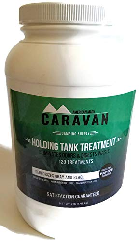 Caravan ''Full-timer's RV Holding Tank Treatment - Natural, eco-Friendly, probiotic Bacteria Enzyme Formula - New and Different Microbial-Based Approach to Eliminate Toilet Odor (120 Treatment Powder) by Caravan