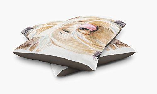 Redstreake Creative Living, Yorkshire Terrier yorkie dog Pet Bed, Coral Fleece Top with Cotton Duck Bottom (dark brown), Zipper with INSERT (30 x 40'') by Redstreake Creative Living (Image #2)