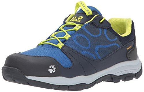 Jack Wolfskin Boys' AKKA Texapore Low B Hiking Shoe, Vibrant Blue, 6 M US Big Kid
