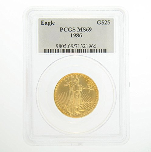 1986 American Eagle Gold $25 MS69 PCGS
