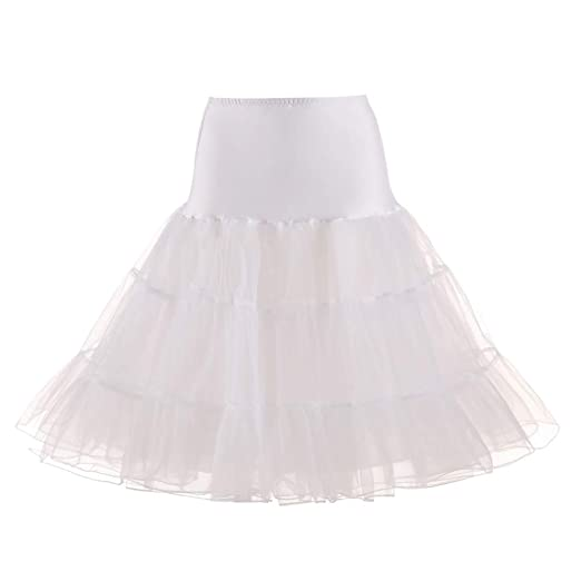 obiqngwi - Falda de Novia para Mujer, Falda de Tul, Blanco, L ...