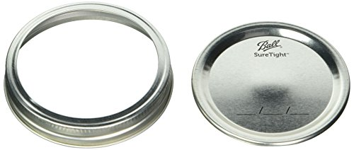 2pack of 12 Ball Wide Mouth Lids and Bands