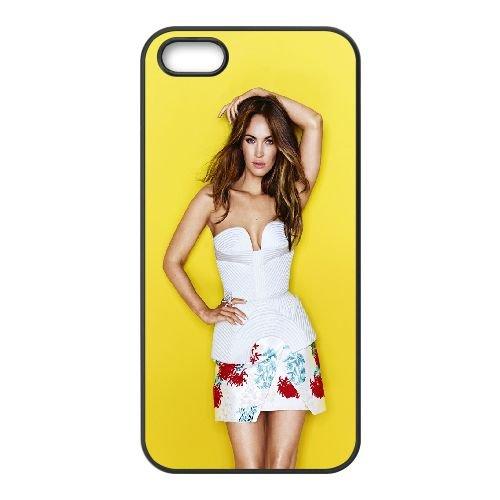 Megan Fox Summer 2015 coque iPhone 5 5S cellulaire cas coque de téléphone cas téléphone cellulaire noir couvercle EOKXLLNCD25949