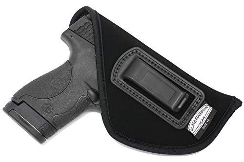 Black Scorpion BSO01LTA Neoprene IWB Holster - Made USA - Inside Waistband - Fits Glock 26,27,33,43/Springfield XDS/S&W M&P Shield 9/40/Ruger SR9c/SR40c - All Similar Handguns (Best Laser For Ruger Sr9c)
