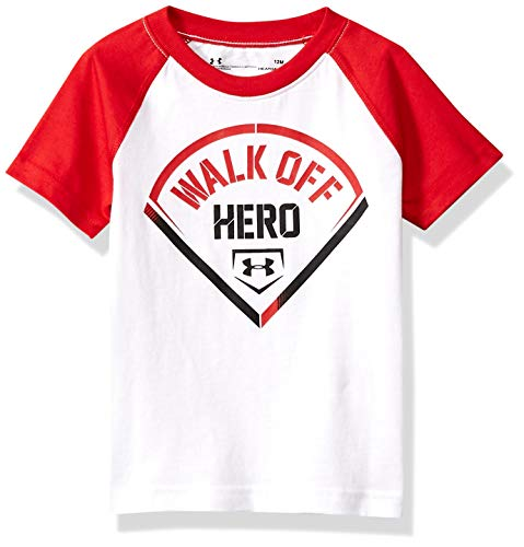 Under Armour Boys' Baby Logo Raglan Tee Shirt, Hero White, 24M