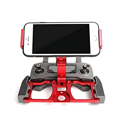Mavic Pro//Mavic Air//Spark Drone Remote Controller Honbobo Foldable Aluminum Alloy Stand Cell Phone Holder with Lanyard Support Crystal Sky Monitor Fit for DJI Mavic Mini//Mavic 2 red
