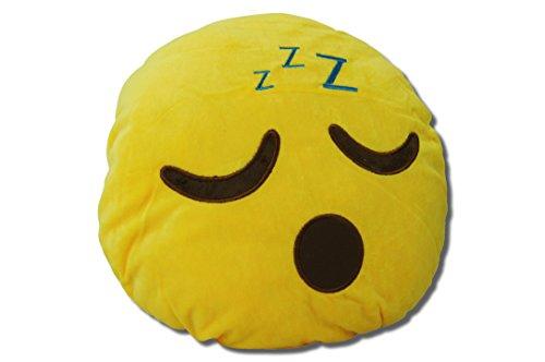 Katara 1788 Cojín Redondo Emoji Almohadilla Emoticono Whatsapp, Almohada Smiley De Peluche, Para Sofá - Dormir: Amazon.es: Juguetes y juegos