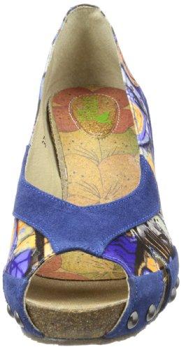 Para Peep mehrfarbig Mujer Multicolor Cuero Toes blue Stork Steps A5 De Handbag HwW0n1fqC