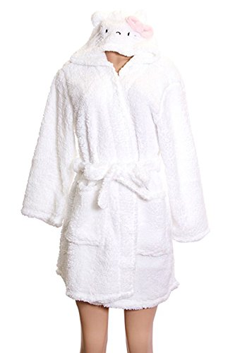 Hello Kitty White Soft Original Plush Shower Gown (L)