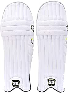 SS Sunridges Ranji Lite Cricket Batting Leg Guards, 1 Pair - White [10050019]