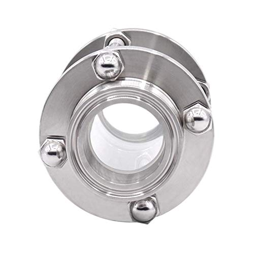 1.5 Inch Tri Clamp Clover Sanitary Flow Sight Glass Diopter Fit 38Mm Pipe Od Sus 304 Stainless Steel Fitting