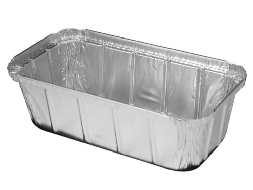 Handi-Foil 1 1/2 lb. Ivc Disposable Aluminum Foil Loaf Pan +Clear Dome Lid 100PK (pack of 100)