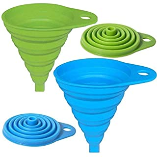 AxeSickle Silicone Collapsible Funnel 2 Pcs Folding Funnel.