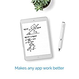 Stilo - Active Fine Tip Stylus Pen for iPad, iPhone, Samsung and Windows tablets. Accurate and Precise - White 2A