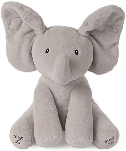 GUND Baby Animated Flappy The Elephant Stuffed Animal Plush, Gray, 12