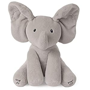 Baby GUND Animated Flappy the Elephant Stuffed Animal Plush, Gray, 12″