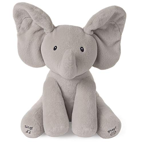 Baby GUND Animated Flappy the Elephant Stuffed Animal Plush, Gray, 12""