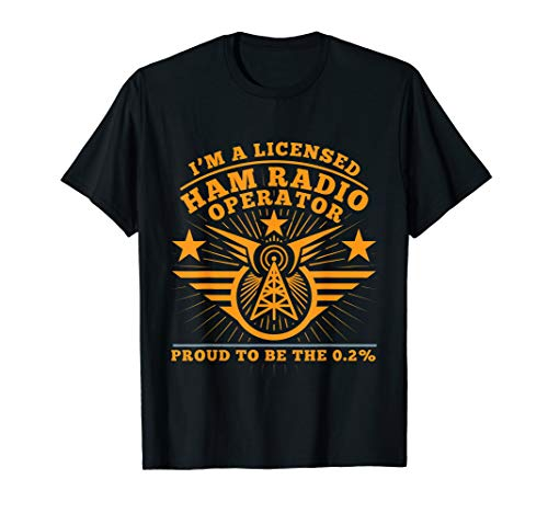 Ham Radio Operator Proud Funny T Shirt Gift for Men Women