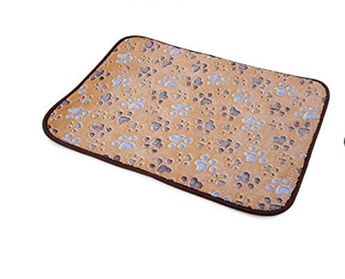 ANDRE HOME Dual Use Pet Cooling Sleeping Mat 2 in 1 Pet Mat,Dog Cats Puppy Cooling Pad Cushion Cold Bed Bamboo Mat(Light Coffee,2L) Pet Bed Blanket