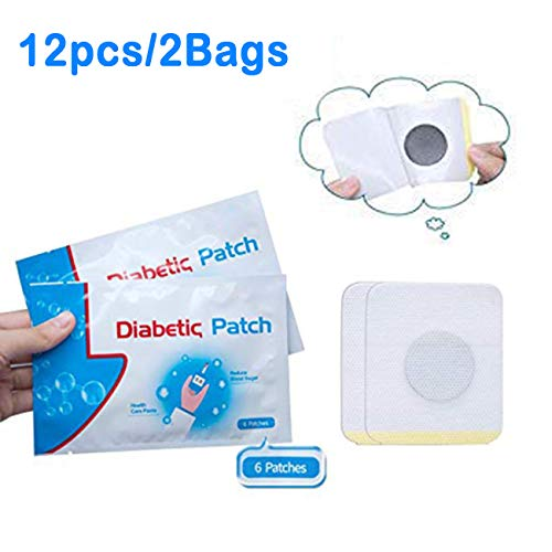 12 Pcs/2Bag Diabetes Plasters Natural Herbs Diabetic Plaster High Blood Sugar Diabetes Patch