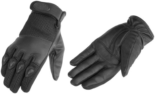 River Road Mystic Leather Mesh Gloves , Gender: Mens/Unisex, Size: Sm, Primary Color: Black, Apparel Material: Textile XF09-1356