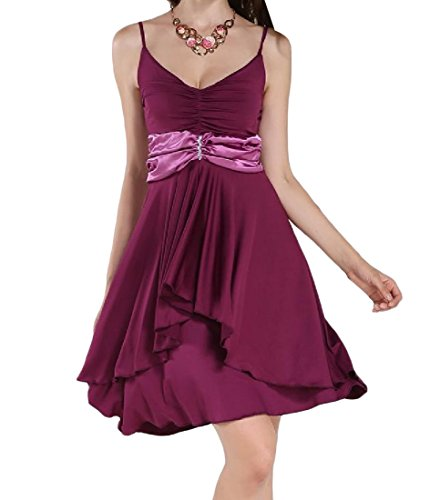 Neck Neck V Solid Purple Casual Coolred Dress V Colored Women's qFBZ6wxv