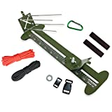 2 in 1 Monkey Fist Jig and Paracord Jig Bracelet Maker Kit Adjustable Length Metal Weaving DIY Craft Paracord Maker Tool 4'' to 13'' with Free Parachute Cord and Buckles