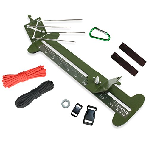 2 in 1 Monkey Fist Jig Paracord Jig Adjustable Length Paracord Jig Bracelet Maker Kit Metal Weaving DIY Craft Paracord Tools 4 to 13 with Free Cord and Buckles