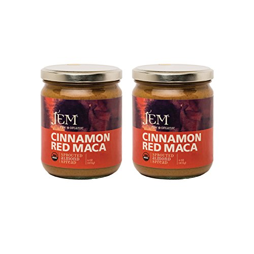 (Jem Raw, Vegan, Organic Cinnamon Red Maca Almond Butter Spread 16 oz (2 pack) )