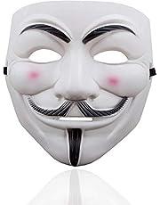Vendetta-masker als kostuumaccessoire voor dames en heren, kinderen en volwassenen bij Anonymous Mardi Gras & Carnival