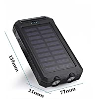 50000mah Solar Power Bank 2 LED 2 USB Battery Charger...