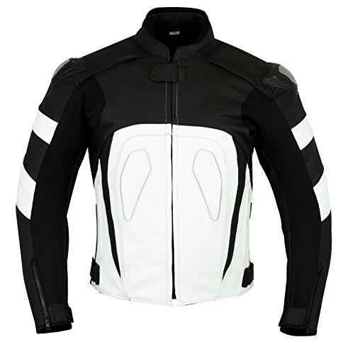 RIDEX Mens LJ-2Y Biker Motorbike Motorcycle Leather Jacket CE Armours