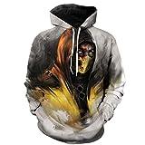RYeFd Mortal Kombat 11 3D Hoodies Unisex Plus Size Sweatshirts Outerwear 3XS-5XL