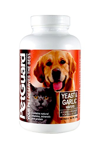 PetGuard Yeast & Garlic Supplement for Dogs & Cats, 160-Count Wafers (Pack of 3)