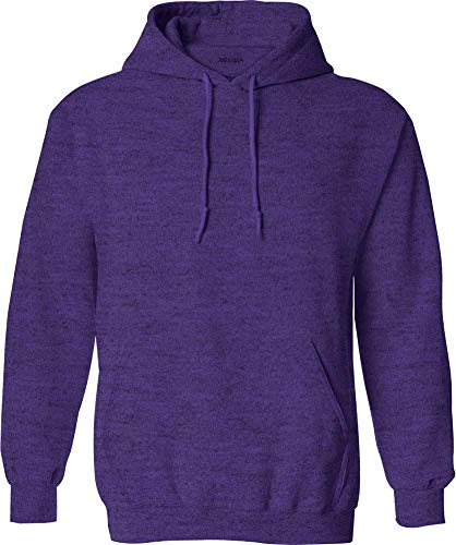 Joe's USA Hoodies - Mens Hooded Sweatshirts-Heather.Purple-L