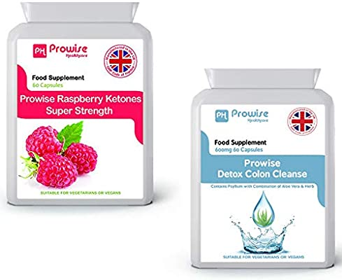 Raspberry + Colon Cleanse Detox Diet Slimming - Metabolismo de grasas, control de peso