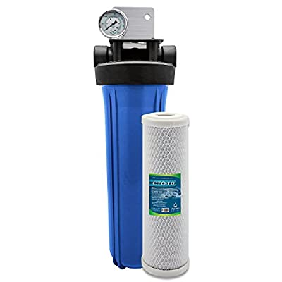 """Express Water Whole House Water Filter System 1 Stage Carbon Filtration 4.5"""" x 20"""""""