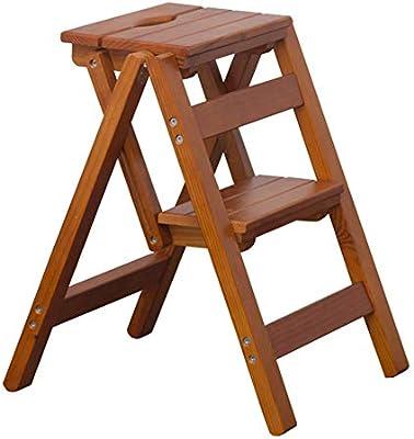 Taburete escalera, Escalera Plegable de Madera Escalera para Adultos y niños Escaleras de Cocina Taburetes de pie pequeño Banco de Zapatos portátil/Estante para Flores (Color : Light Walnut): Amazon.es: Hogar