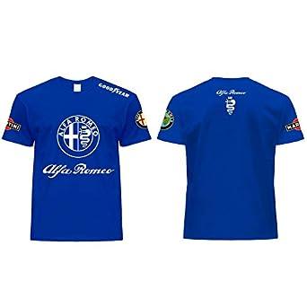 Generico - Camiseta para Alfa Romeo, diseño Deportivo, Color Azul ...