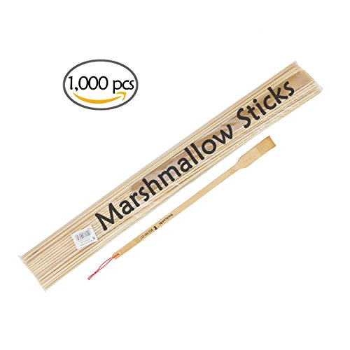 BambooMN Brand - Premium 36 Inch (3ft) 5mm Thick Extra Long Multipurpose Marshmallow Roasting Bamboo Sticks/Skewer (Plus a free bamboo speader or backscratcher) -1,000pcs by BambooMN