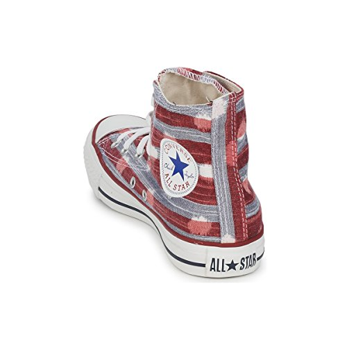 Converse Chuck Taylor All Star Striped Polka Dot Shoes - Varsity Red Athletic Red - UK 4
