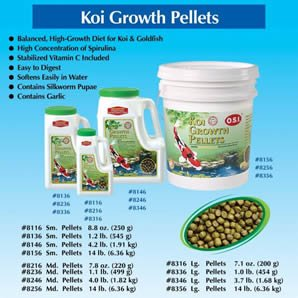 Imperial Garden Products Osi Koi Growth Pellets With Spirulina Floating Fish Food Medium 1 1Lb