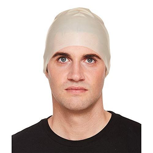 'Bald Head Latex Party Theme Hats Caps & Headwear for Fancy Dress Costumes Accessory -