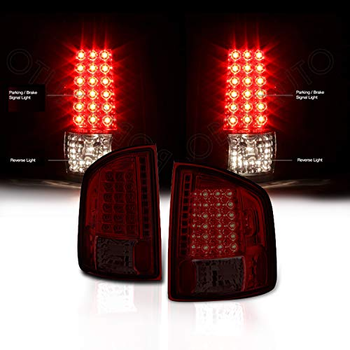 Rxmotor Chevy S10 GMC Sonoma LED Tail Light Rear Signal Brake Lights Taillight (Red -