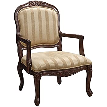 Amazon Com Classic Accent Curved Arm Paisley Wine Chair