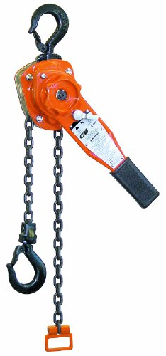 24' Surface Mount (CM Series 653 Lever Hoist, Hook Mount, 3/4 Ton Capacity, 24' Lift, 12-5/8