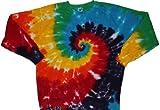 Tie Dyed Shop Rainbow Spiral Pullover Tie Dye Sweatshirt-Medium offers
