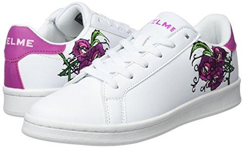 Y 198 Kelme Sneakers Elfenbein Blanco Damen Morado Omaha Flowers OcPwqPFZYS