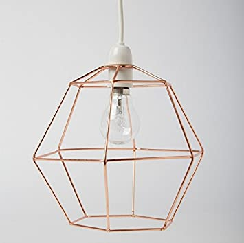 Industrial hexagon copper wire ceiling pendant light lamp shade industrial hexagon copper wire ceiling pendant light lamp shade lampshade lights keyboard keysfo Image collections